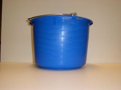 glazenwassers emmer blauw met