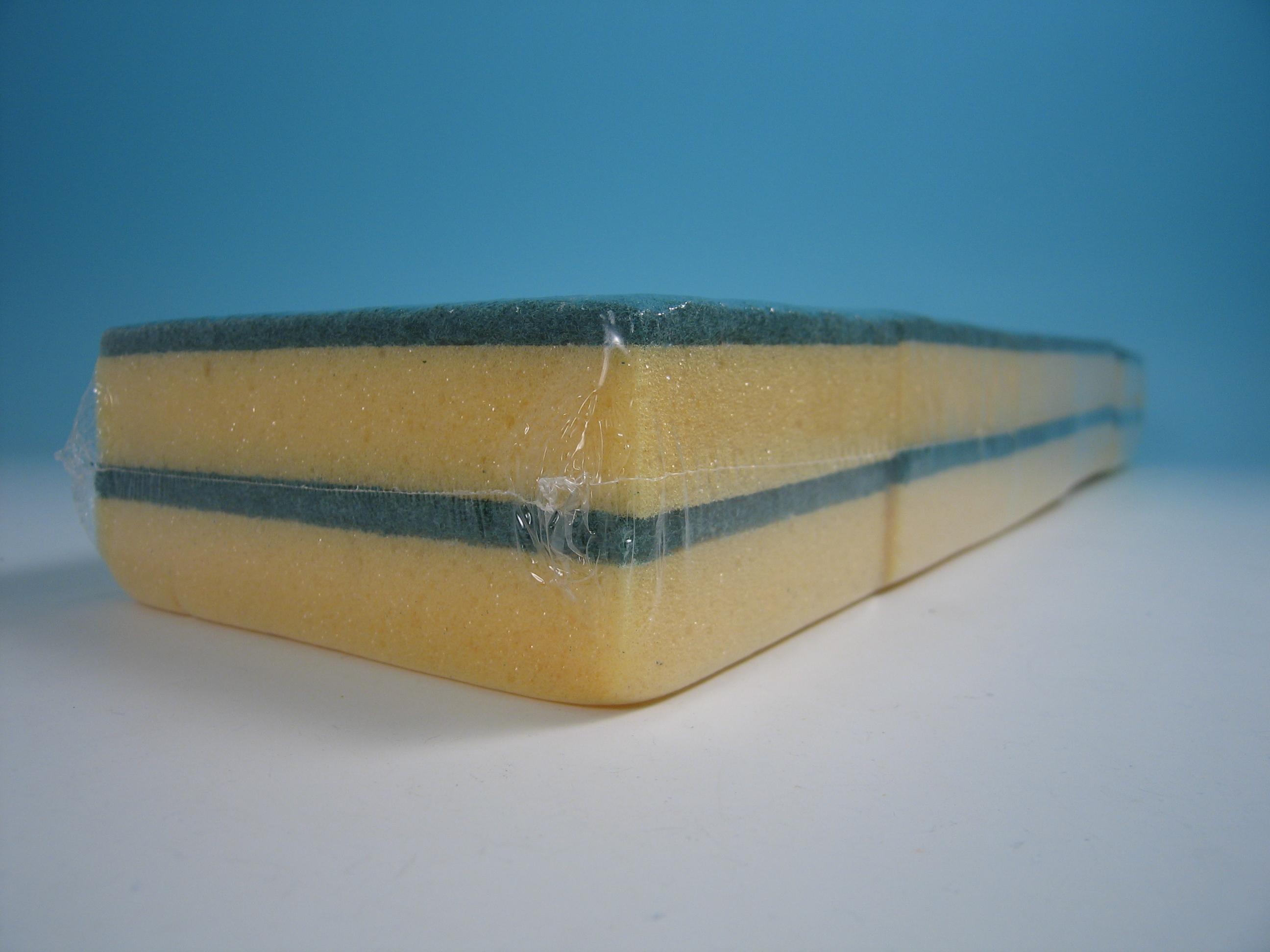 Schuurspons groen / geel