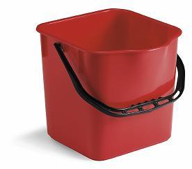 Filmmop - Emmer rechthoekig rood 17 liter