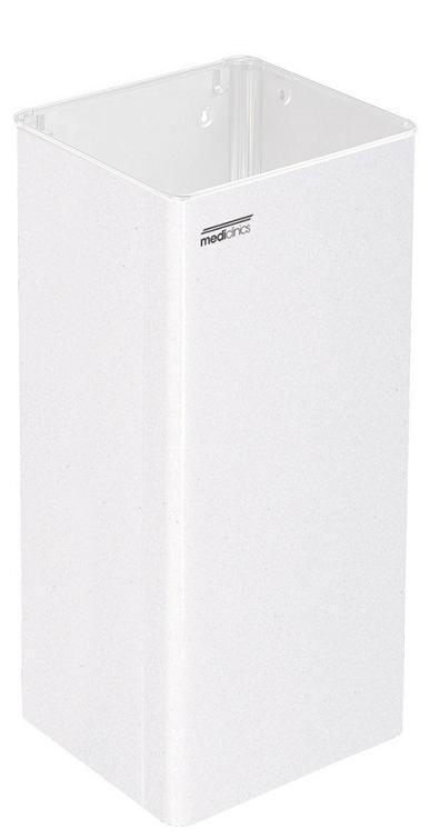 ALL CARE Dispenserline - Afvalbak Wit staal 80 liter MC